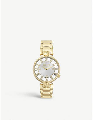 Versus SP4906-0018 Kirstenhoff rose gold-plated stainless steel and leather watch