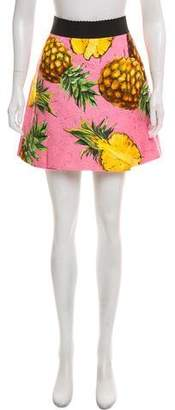 Dolce & Gabbana 2017 Pineapple Print Skirt