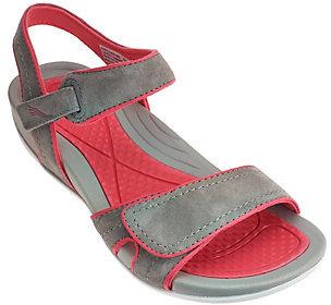 As Is Dansko Leather Sport Sandals w/ Double Adj. Straps - Kami