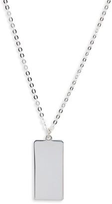 Argentovivo Skinny Dog Tag Necklace