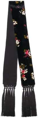 Forte Forte fringed hem floral scarf