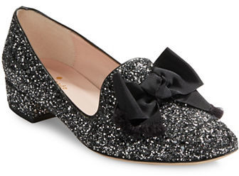 Kate SpadeKate Spade New York Gino Bow-Accent Glitter Loafers