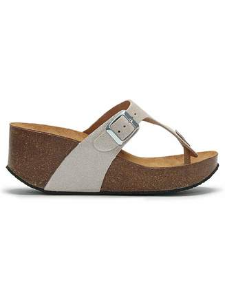Wedge Toe Post Sandals Shopstyle Uk