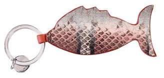 Bottega Veneta Snakeskin Fish Keychain
