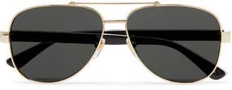 Gucci Aviator-Style Gold-Tone and Acetate Sunglasses - Men - Gold