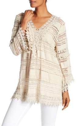 Tempo Paris Lace Bell Sleeve Tunic