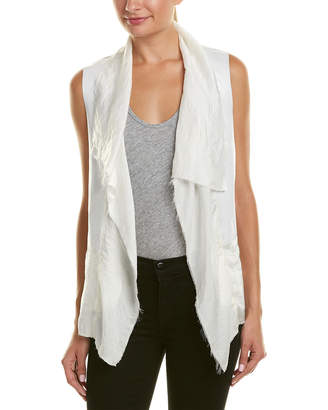 Jakett Olivia Leather-Trim Vest