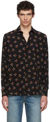 Saint Laurent Black Mickey Mouse Shirt
