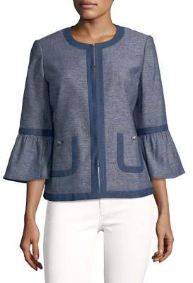 Karl Lagerfeld Paris Textured Bell-Sleeve Jacket