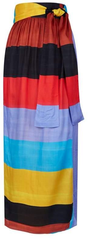 Cora Striped Maxi Skirt