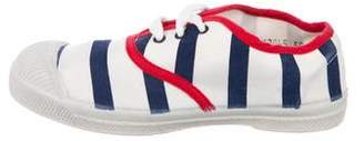 Junior Gaultier Boys' Canvas Striped Sneakers