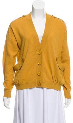 See by Chloe Wool-Blend Button-Front Cardigan
