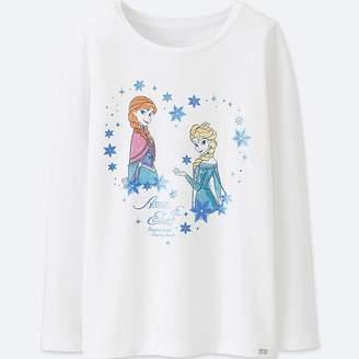 Uniqlo Girl's Disney Heattech Extra Warm Crewneck T-Shirt