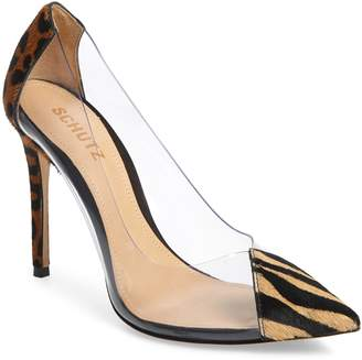 Schutz Cendi Transparent Genuine Calf Hair Pump