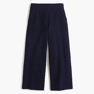 J.Crew Ponte wide-leg crop with patch pockets