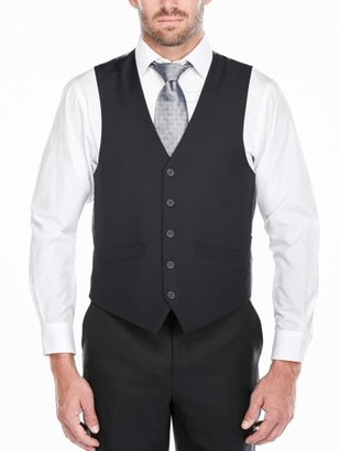 Verno Men's Dark Navy Five Button Classic Fit Vest