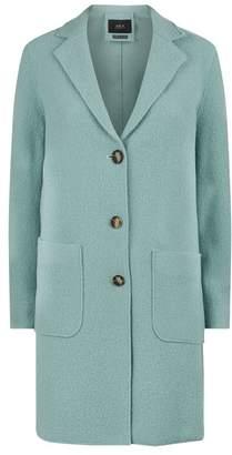 SET Wool Three-Button Coat