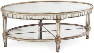 John-Richard Collection Keswick Oval Table - Parisian Silver