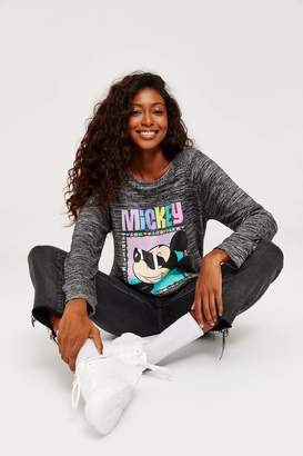 Ardene Mickey Heather Long Sleeve Tee