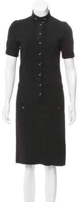 Saint Laurent Knit Midi Dress