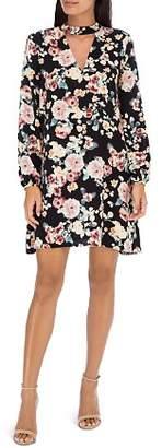 Bobeau B Collection by Mykla Floral Print Choker Dress