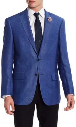 Hart Schaffner Marx Dark Blue Two Button Notch Lapel New York Fit Sport Coat