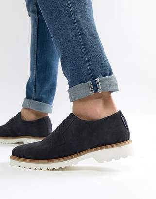Ben Sherman Highland Lace Up Shoes In Navy Suede