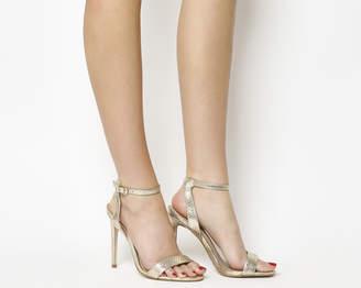 fd839ccaf Office Alana Single Sole Sandals Gold Snake Leather