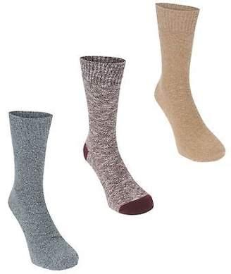 Soul Cal SoulCal Mens Textured Socks Crew