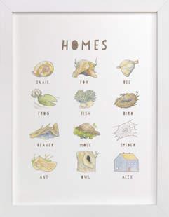 Homes Children's Custom Art Print