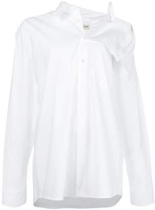 Each X Other off the shoulder dress shirt