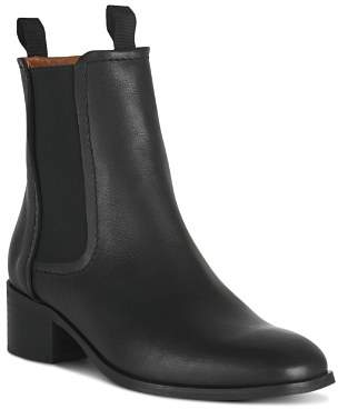 Whistles Fernbook Leather Chelsea Booties