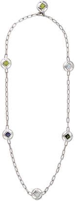 Cartier Estate 18K White Gold Stone-Station Necklace