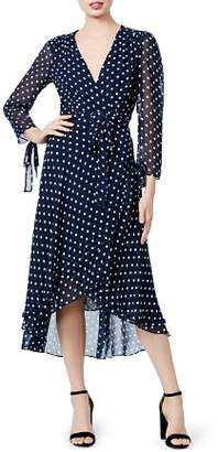 Betsey Johnson Dot Print Wrap Dress