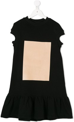 Ioana Ciolacu Kids pleated skirt T-shirt dress