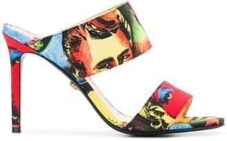 Versace printed slip-on mules