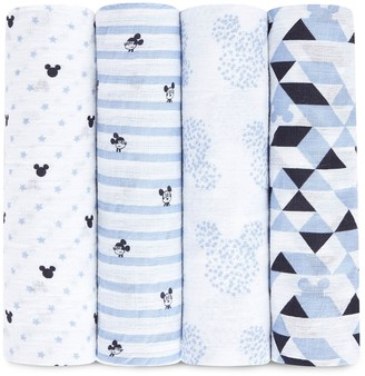 Disney Disney's Mickey Mouse 4-pk. Swaddling Wraps from aden by aden + anais