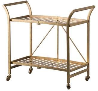 A&B Home Cleo Golden Serving Cart