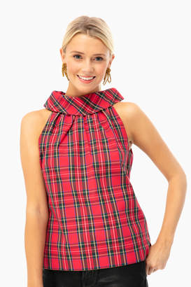 Sail to Sable Jaclyn Plaid Top