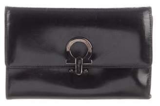 Salvatore Ferragamo Leather Gancio Wallet Black Leather Gancio Wallet