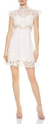 Sandro Jannie Lace A-Line Mini Dress