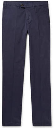 Canali Navy Stretch-cotton Twill Chinos - Navy