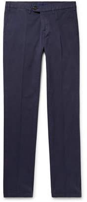 Canali Navy Stretch-cotton Twill Chinos - Navy