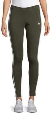adidas Three-Stripe Jersey Leggings
