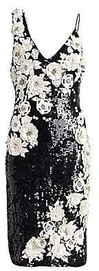 Alice + Olivia Women's Francie Embellished Cocktail Dress