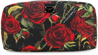 Dolce & Gabbana rose print make-up bag