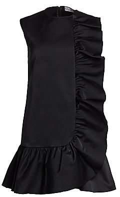 RED Valentino Women's Ruffle Trim Shift Dress