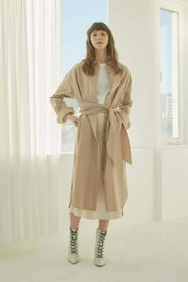 BEIGE Nuvo10 NUVO10 Double Button Two Way Dress - Wood