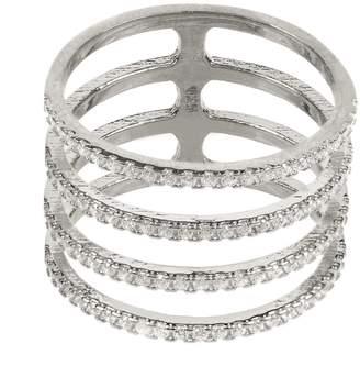 Latelita - Four Line Geometric Fashion Ring Sterling Silver