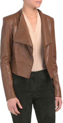 Crossover Leather Jacket